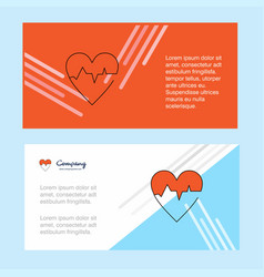 Heart ecg abstract corporate business banner vector