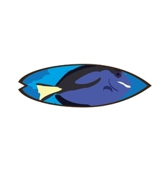 Isolated colored surfboard vector image