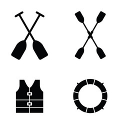 kayak icons vector image