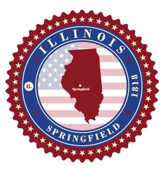 Label sticker cards of State Illinois USA vector image