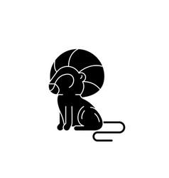 leo zodiac sign black icon sign on vector image