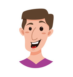 Male emoji cartoon character vector