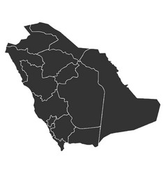 Map of saudi arabia in high resolution vector