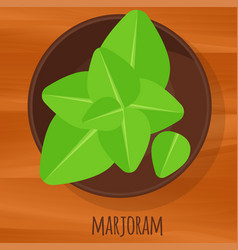 Marjoram flat design icon vector