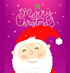 merry christmas concept with holiday accessories vector image