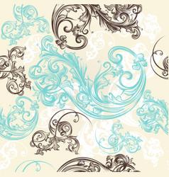 Ornamental seamless wallpaper pattern vector