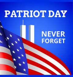 Patriot day card vector