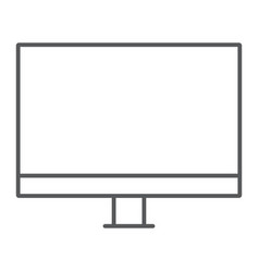 Pc monitor thin line icon electronic and digital vector