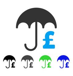 Pound financial umbrella flat icon vector