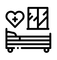 Prenatal ward maternity hospital black icon vector