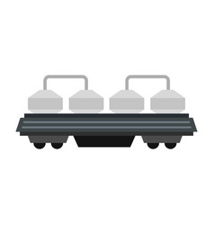 Rail wagon for cement icon flat style vector