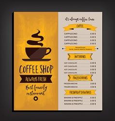 Restaurant cafe menu template design vector
