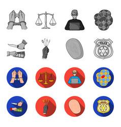 Robbery attack fingerprint police officer badge vector