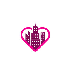 romance town logo icon design vector image