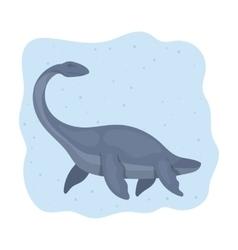 Sea dinosaur icon in cartoon style isolated on vector image