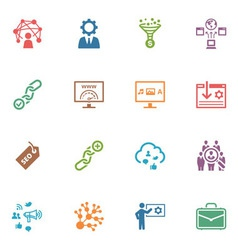 SEO and Internet Marketing Colored Icons - Set 2 vector