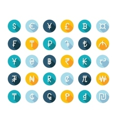 Set Currency Symbols vector