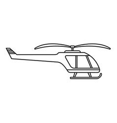Small helicopter icon outline style vector