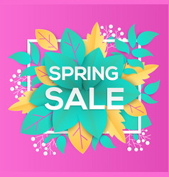 spring sale - modern colorful vector image