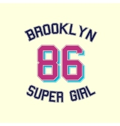 super girl typography t-shirt graphics vector image