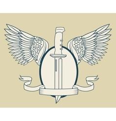 Sword tattoo art design vector