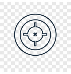 Target concept linear icon isolated on vector