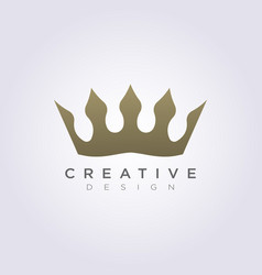 The crown kingdom design clipart symbol vector