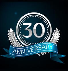 Thirty years anniversary celebration design vector
