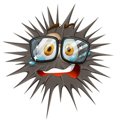 Thorny ball with crying face vector