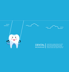 Tooth swings on swing concept vector