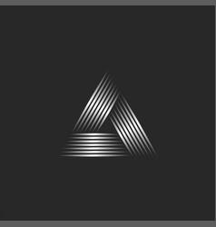 Two triangle logo creative graphic design vector