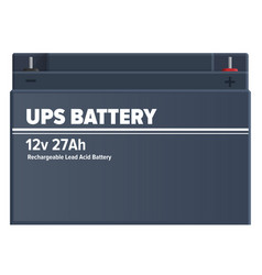ups rechargeable lead-acid battery isolated vector image