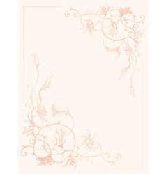 Vintage flower ink pattern vector image