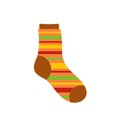 Warm sock icon flat style vector