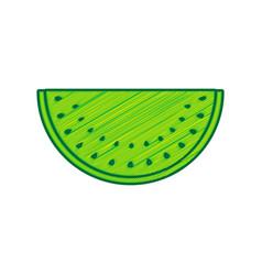 watermelon sign lemon scribble icon on vector image