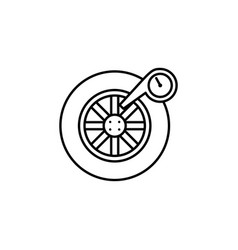 Wheel car icon can be used for web logo mobile vector
