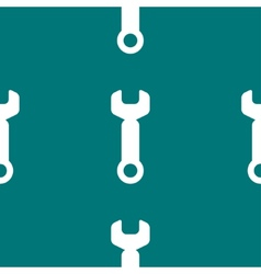 Wrench tool to work web icon flat design Seamless vector