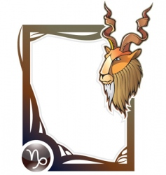 zodiac frame series capricorn vector image