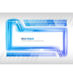 abstract shape blue vector image vector image