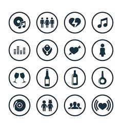bar icons universal set vector image