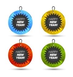 Happy new year icon vector image