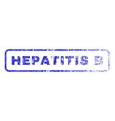 Hepatitis b rubber stamp vector