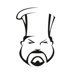 Serious and competent chef vector image vector image
