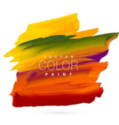 Bright colorful hand paint stain design vector