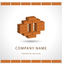Construction and repair Real estate company logo vector image vector image