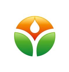 ecology bio logo vector image
