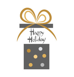 happy holiday vintage decorated open gift box vector image