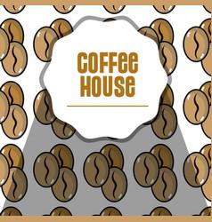 Nice coffee grains background design vector
