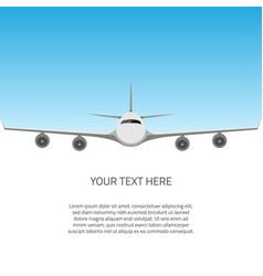 postcard with airplane vector image vector image