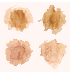 set of blots and splashes of spilled coffee vector image vector image